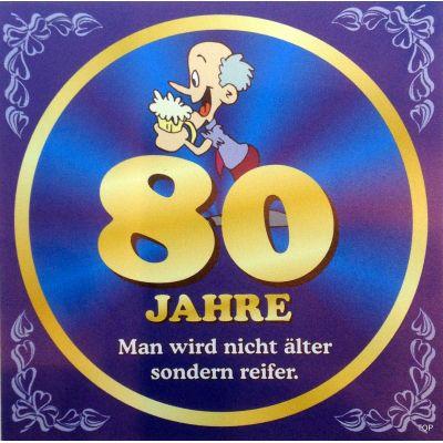 Flaschenetikett Bier 80.Geburtstag Jubiläum Geschenkidee Präsent   NM-9906