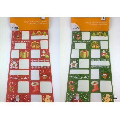 Geschenkaufkleber für Weihnachten Sticker 24tlg. Set 2 Varianten | WN-59527 / EAN:4015861595271