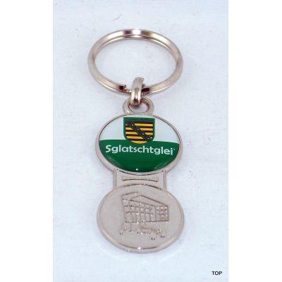 Magic Einkaufswagenchip SGL Sachsen Schlüsselanhänger Metall TOP   NM-90 / EAN:4250825197881