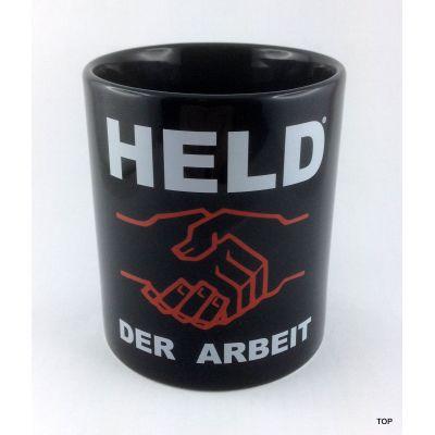 Tasse Held der Arbeit Kaffeetasse Kaffeebecher Porzellan Deko witzige sächsische Sprüche | NM-4 / EAN:4250825195030