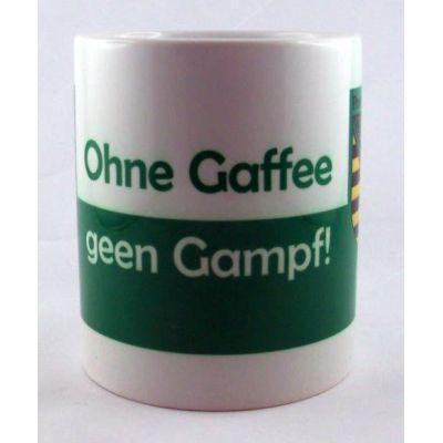 Tasse Ohne Gaffee gen Gampf Kaffeetasse Sachsen Porzellan   NM-10 / EAN:4250825195030