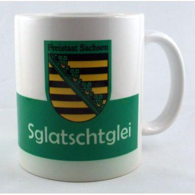 Tasse Sglatschtglei Kaffeetasse Sachsen Porzellan Deko Ostprodukt | NM-5 / EAN:4250825197263