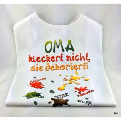 XL Latz Oma kleckert nicht, sie dekoriert Lätzchen für Erwachsene | 99002