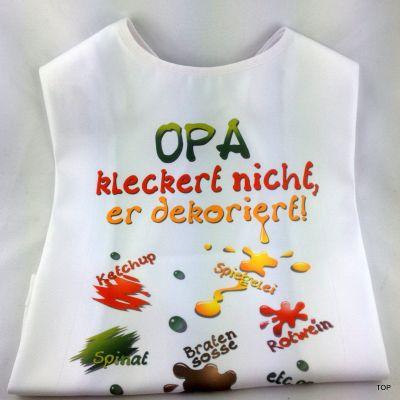 XL Latz Opa kleckert nicht, er dekoriert Lätzchen für Erwachsene | 99001