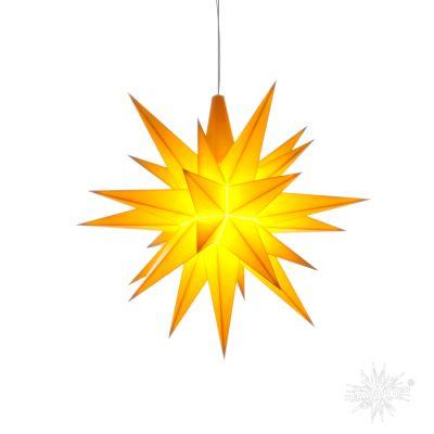 A1e gelb Kunststoff Original Herrnhuter Stern für Innen mit LED | 50220