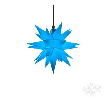 A4 blau Kunststoff Herrnhuter Stern für Außen und Innen | 30409