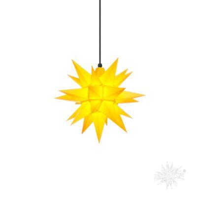 A4 gelb Kunststoff Herrnhuter Stern für Außen und Innen | 30402