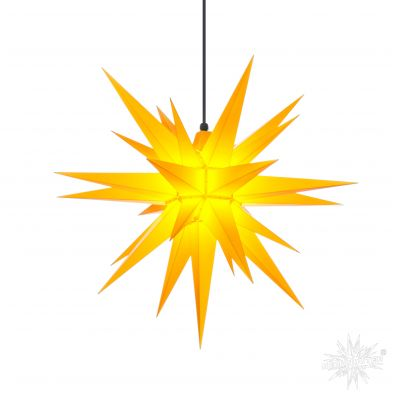 A7 gelb Kunststoff Herrnhuter Stern für Außen und Innen   30702