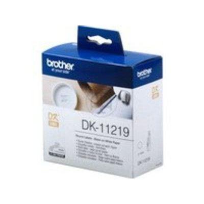 Brother Einzeletikettenrollen DK-11219, CD/DVD-Etiketten, 1200St/Rolle, Durchmesser:12mm für QL-500 | 95007797dre / EAN:4977766634564