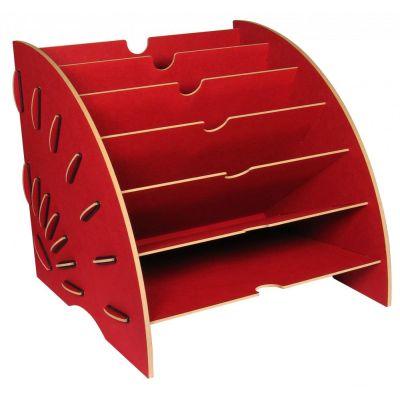Ablage Magazin rot Ablagekorb Briefablage Ordnungssystem Zeitungsständer Zeitschriftenständer | 5865 / EAN:4019435115278