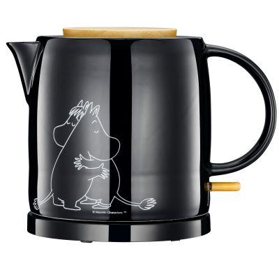 Adexi Moomin Keramik-Wasserkocher 1 L schwarz Mumin Design Teekanne Finnland | 16564 / EAN:5708301004035