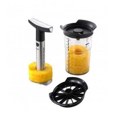 Ananasschneider Professional Plus mit Vorratsbehälter und Stückchenschneider Ananas schneiden | 5701 / EAN:4006664135504
