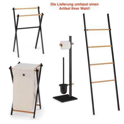 Badaccessoires TOM TAILOR Soho Dark Oak Badutensilien Handtuchhalter Wäschekorb | 14808