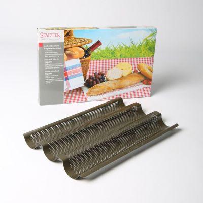 Baguette-Backblech Backform Baguetteblech Baguette backen Baguettebackblech Blech Baguetteform | 2785 / EAN:4018598491052
