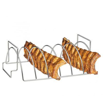 BBQ-Spare-Ribs und Braten-Rack Halter Zubehör Smoker Grill Ständer Edelstahl Rippchen | 8194 / EAN:4007371062398