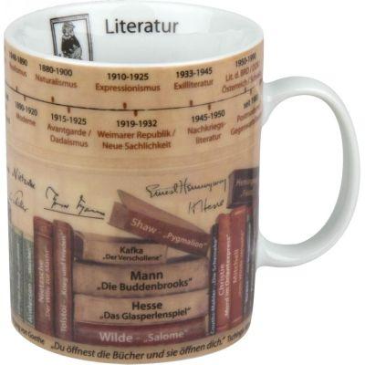 Becher Literatur Wissensbecher Themen-Becher Kaffeetasse Tasse Kaffee Teetasse Tee Porzellan | 4571 / EAN:4028145060440