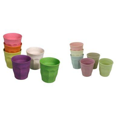 Becher Set Rainbow Dawn Tasse 6 Stück M Kinderbecher 100 % Bio nachhaltig 150 ml umweltfreundlich | 13976