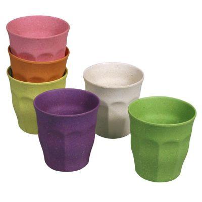 Becher Set Rainbow Tasse 6 Stück M Kinderbecher 100 % Bio nachhaltig 150 ml umweltfreundlich | 8048 / EAN:8717371219437