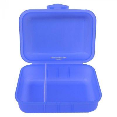 Brotbox blau mit 2 Trennstegen Brotzeitbox Brotzeitdose Frühstücksdose Dose Brotdose Brotzeit | 5653 / EAN:4053717108718