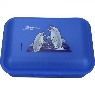 Brotbox Delphin blau mit 1 Trennsteg Delfin Brotzeitbox Brotzeitdose Brotdose Frühstücksdose | 5486 / EAN:4030596000128