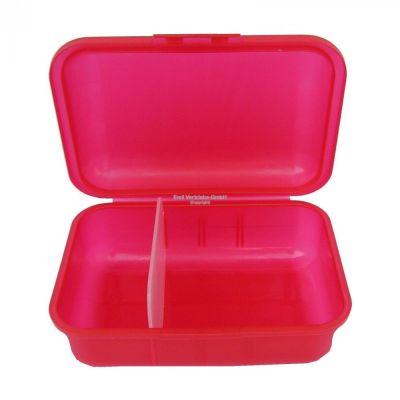 Brotboxen rot mit 2 Trennstegen Brotzeitbox Brotzeitdose Brotdose Frühstücksdose Kinderbox | 5675 / EAN:4030596003075