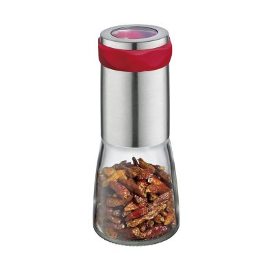 Chilimühle Piccante Mühle Edelstahl Glas Gewürzmühle Chili Salzmühle Pfeffermühle manuell | 6104