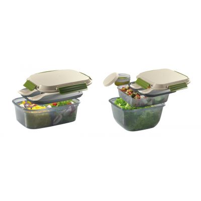 Cilio Lunch-Box to-go BPA-frei Kühlbox Kühlakku Brotdose Brotbox Picknick Lunchbox | 14924