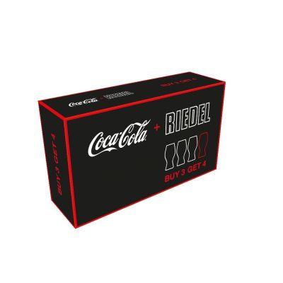 Coca Cola Gläser 4er Set Coke Trinkglas Glas Trinkgläser 4 Stück | 8366 / EAN:9006206524280