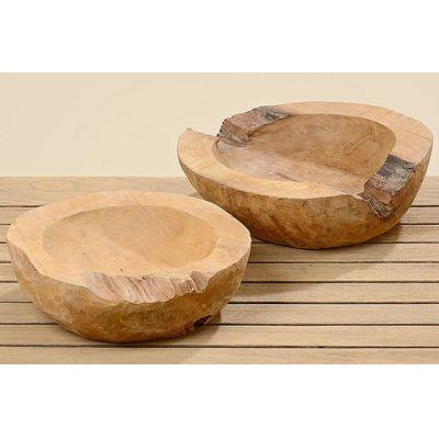 Dekoschale Teak 30 cm Holz Holzschale Deko-Schale Dekoration Unikat einzigartig | 8823 / EAN:4020606124340