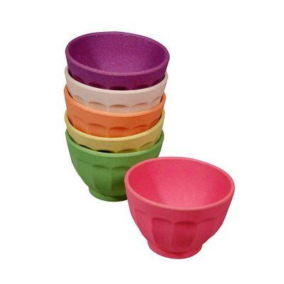 Dessertschalen Rainbow Set 6 Stück Müslischalen Schalen 6-teilig Schüssel umweltfreundlich 100 % Bio | 8387 / EAN:8717371220754