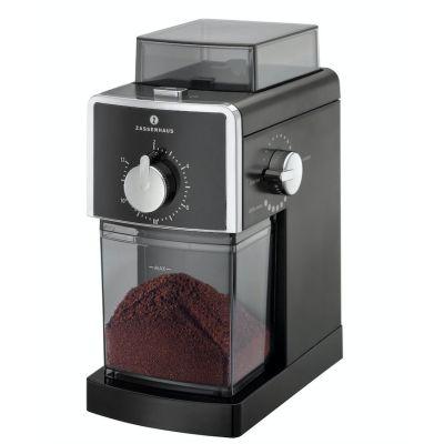 Elektrische Kaffeemühle Kingston schwarz Kaffee Mühle mahlen Scheibenmahlwerk | 8715 / EAN:4006528043006