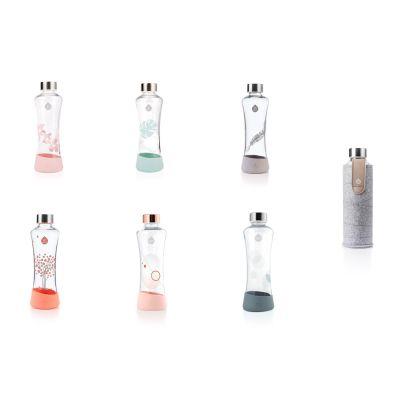 Equa Trinkflasche verschiedene Motive Glasflasche Wasserflasche Sportflasche | 15466