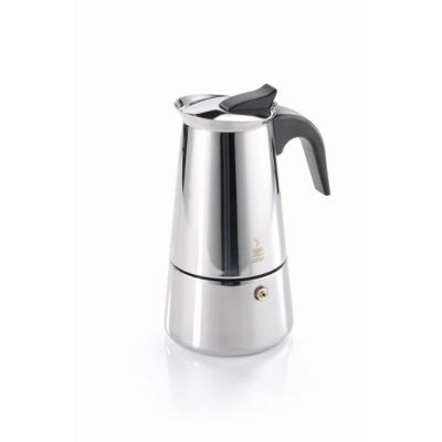 Espressokocher Emilio 2 Tassen Espressokanne Caffettiera Moka Espressomaschine Kaffeezubereitung | 6986 / EAN:4006664161404