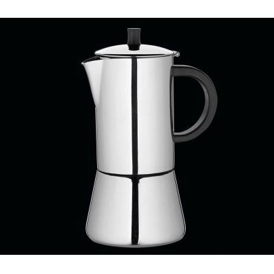 Espressokocher Figaro für 4 Tassen Espresso Mokka kochen Edelstahl Kaffee | 1325 / EAN:4017166342024