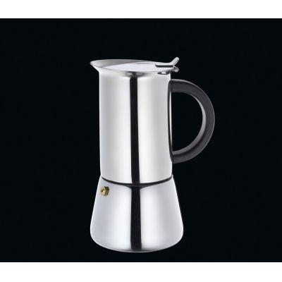 Espressokocher Rigoletto für 6 Tassen Espresso Mokka kochen Edelstahl Kaffee Kocher | 2321 / EAN:4017166342338