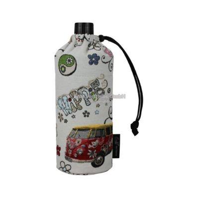 Flasche 0,4 Liter Hippie Glasflasche Trinkflasche Isolierflasche Germany Thermobecher Glas | 5795 / EAN:4030596001859