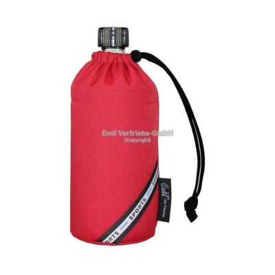 Flasche 0,4 Liter rot red Glasflasche Trinkflasche Isolierflasche Germany Thermobecher Glas | 5827 / EAN:4030596001101