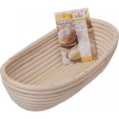 Gärkörbchen länglich Brotkorb Brotbackkorb Gärkorb aus natürlichem Peddigrohr 28 cm lang Brotform | 9047 / EAN:4026883208988