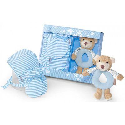 Geschenk-Set Billy Babyspielzeug Greifling Rassel Babymütze Fäustel Geschenk Set | 2307 / EAN:4004701466086