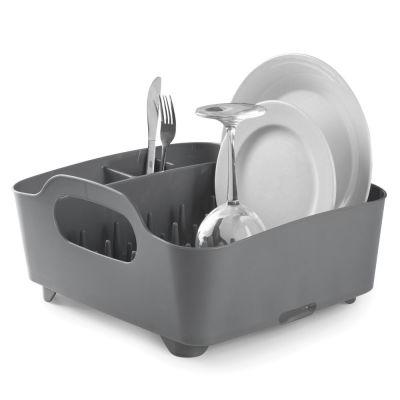Geschirrkorb Tub Dish Rack, anthrazit/grau Abtropfgestell Abtropfbrett Spülkorb Geschirrständer   8862 / EAN:0028295515832
