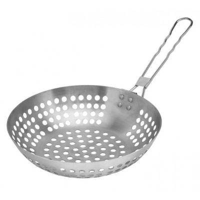 Grillwok Grill-Wok Pfanne Wokpfanne Edelstahl Grillen Wok | 1016 / EAN:4014868010879