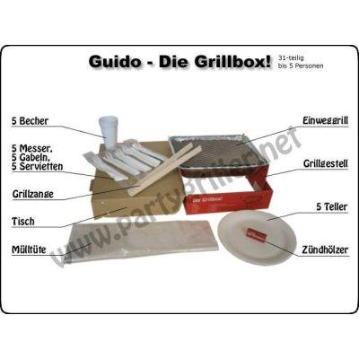 Guido-Die Grillbox Einweggrill Grill Garten Grillzubehör Barbecue Einweg-grill Park grillen | 2890 / EAN:4260188370012