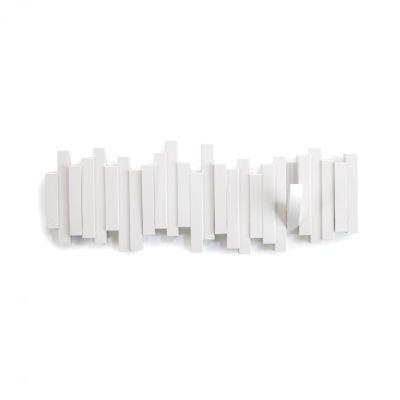 Hakenleiste Hook weiß Sticks Wandhaken Garderobe Garderobenhaken Wandgarderobe Kleiderhaken Haken | 4224 / EAN:0028295280273
