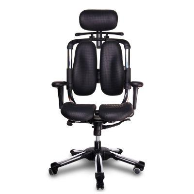 Harastuhl Bürostuhl NWL M-117 schwarz Kunstleder geteilte Rückenlehne Chefsessel | 14098