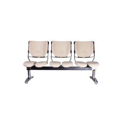 Harastuhl Dreisitzer LOB M-116 beige Kunstleder geteilte Sitzflächen Sitzbank Wartezimmer Wartebank | 14100