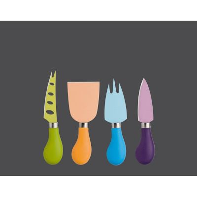 Käsemesser-Set bunt 4-tlg. Easy Cut Messerset Käseschneider Käse Küchenmesser schneiden | 2081 / EAN:4006528071139