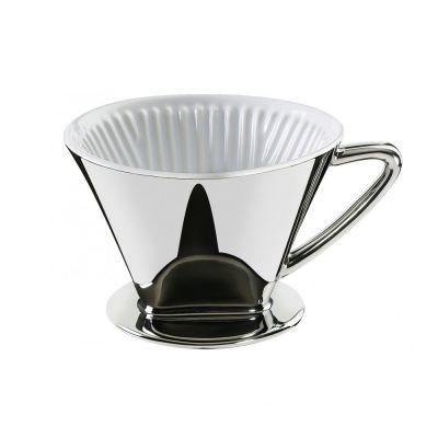 Kaffeefilter Größe 4 silber Kaffee Filter 1x4 Filterkaffee Kaffeebereiter Kaffeefilterhalter | 11377 / EAN:4017166106152