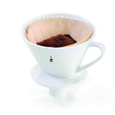 Kaffeefilter Sandro Filterkaffe Porzellan Handfilter Größe 4 Kaffeefilter Dauerfilter Kaffee | 8436 / EAN:4006664160209
