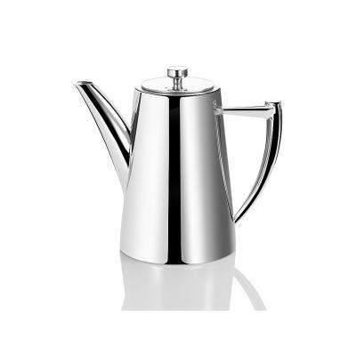 Kaffeekanne Edelstahl 1,2 Liter Teekanne Milchkanne Edelstahlkanne glänzend Retro | 10329 / EAN:8711871015261