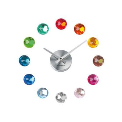 Karlsson Wanduhr DIY Diamonds multicolor Wanduhr Uhr Zeitmesser Zeitanzeiger Time Clock Diamanten | 2977 / EAN:8714302478628